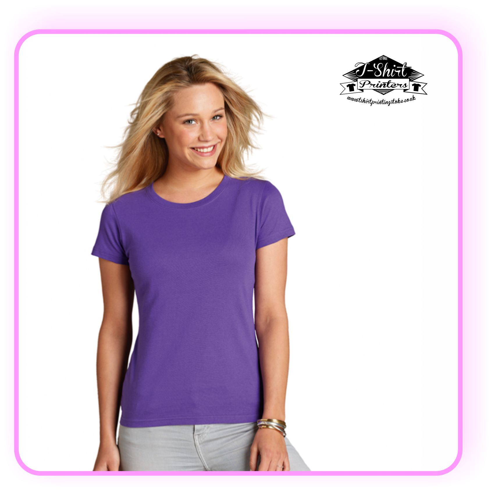 Printed Ladies T Shirts