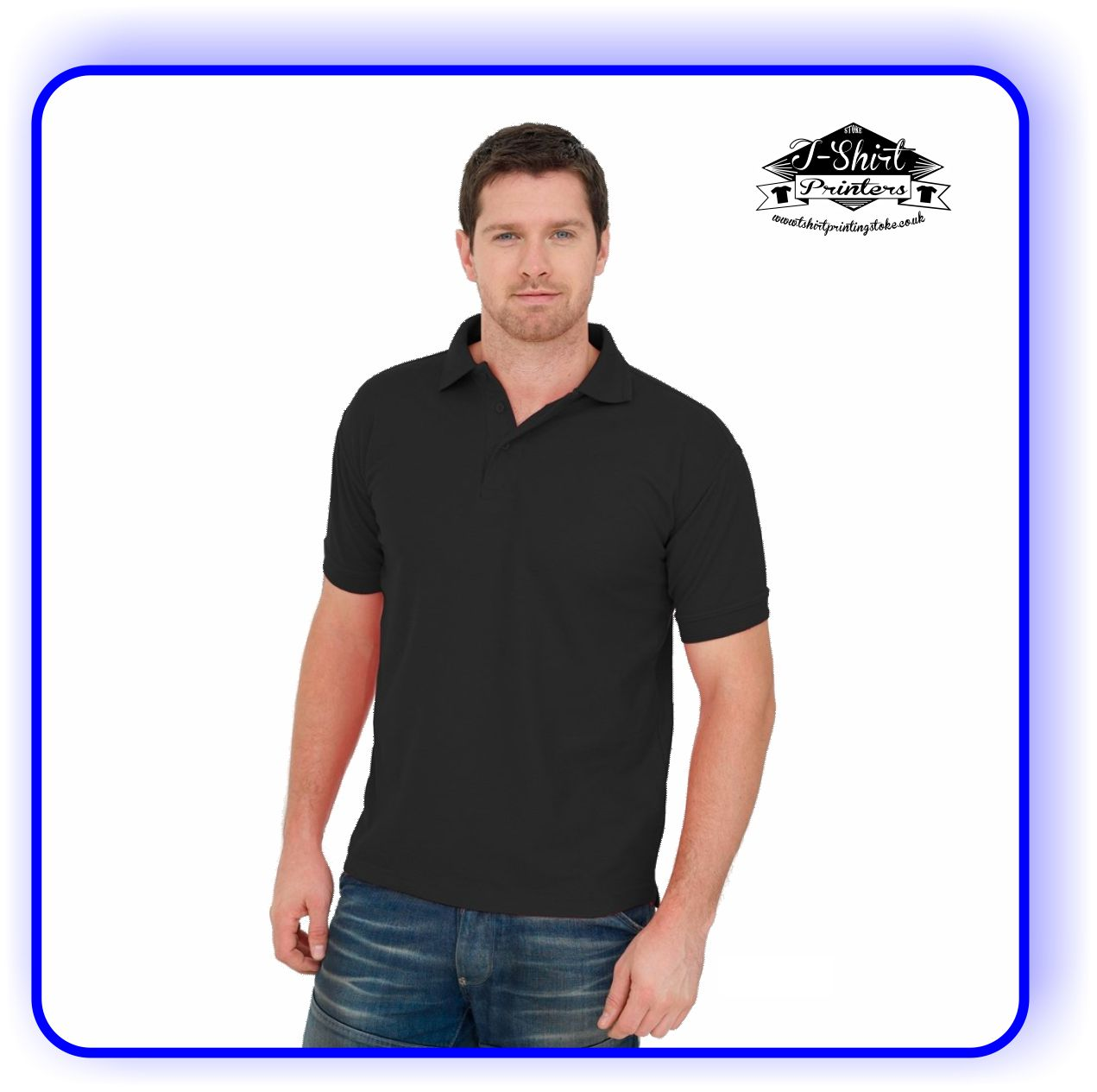 Stag Party Printed Polo Shirt
