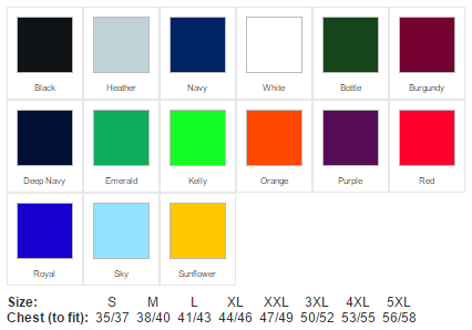 Polo Shirt colour options