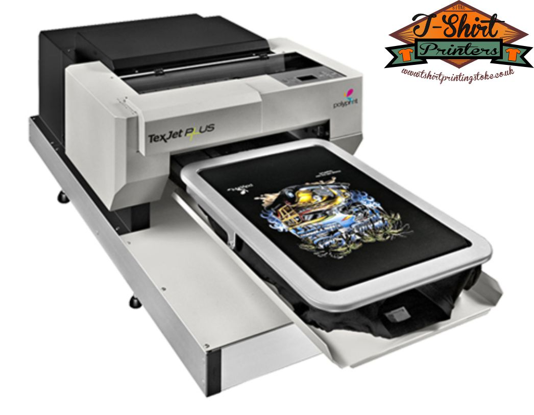 Stoke t shirt printers what is dtg direct to garment for Direct print t shirt printer