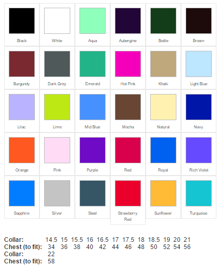 budget formal shirt colours