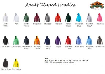 Zip leavers hoods
