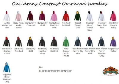 2 colour kids leavers hoodies