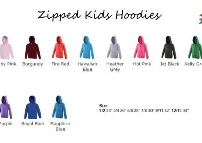childrens zipped leavers hoodies