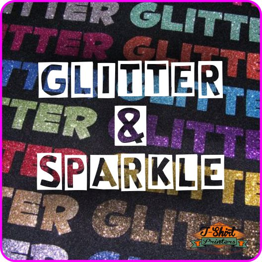 Sparkly Glitter Printed T Shirts